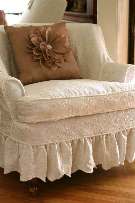 shabby chic chair slipcovers 98 best images about shabby chic slipcovers on pinterest