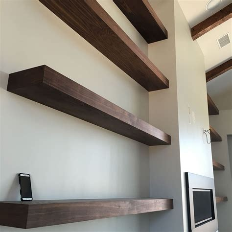custom built floating shelves handmade floating shelves walnut plywood by s