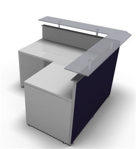 S Shaped Desk by L Shaped Reception Desk Coloured Fronts Active S