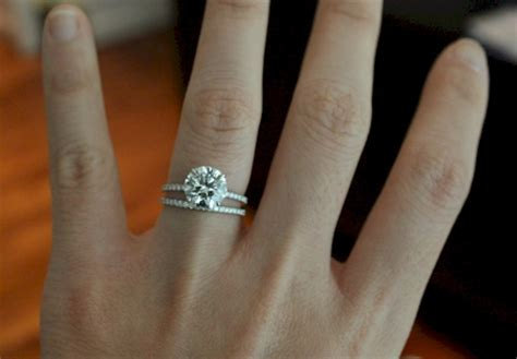 Wedding Ring Gap by Gap Between My E Ring And Wedding Band Weddingbee
