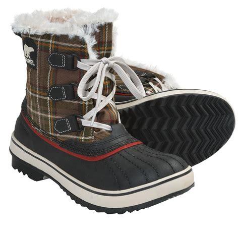 plaid boots sorel tivoli plaid winter boots for 5563t