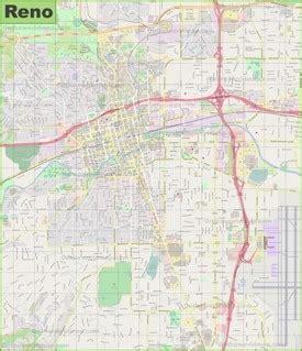 reno usa map large detailed map of reno