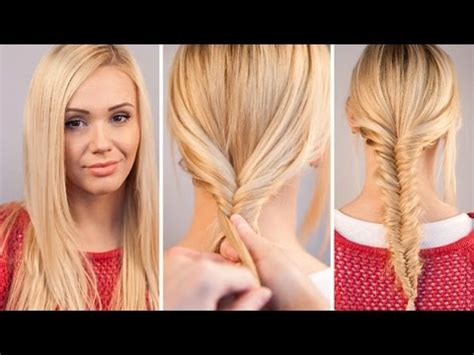 easy fishtail braid tutorial youtube