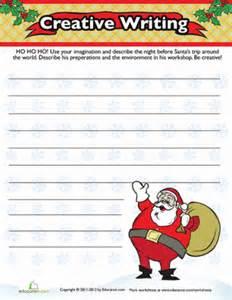 christmas descriptive writing worksheet education com