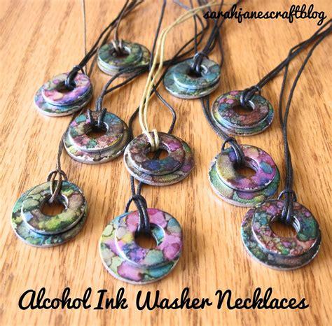 Sarah J Home Decor sarah jane s craft blog alcohol ink washer necklaces