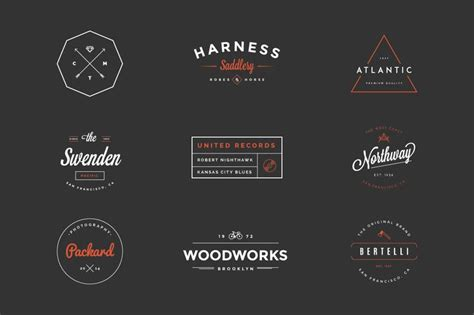 design a hipster logo hipster vintage logo pack by victorbarac graphic design