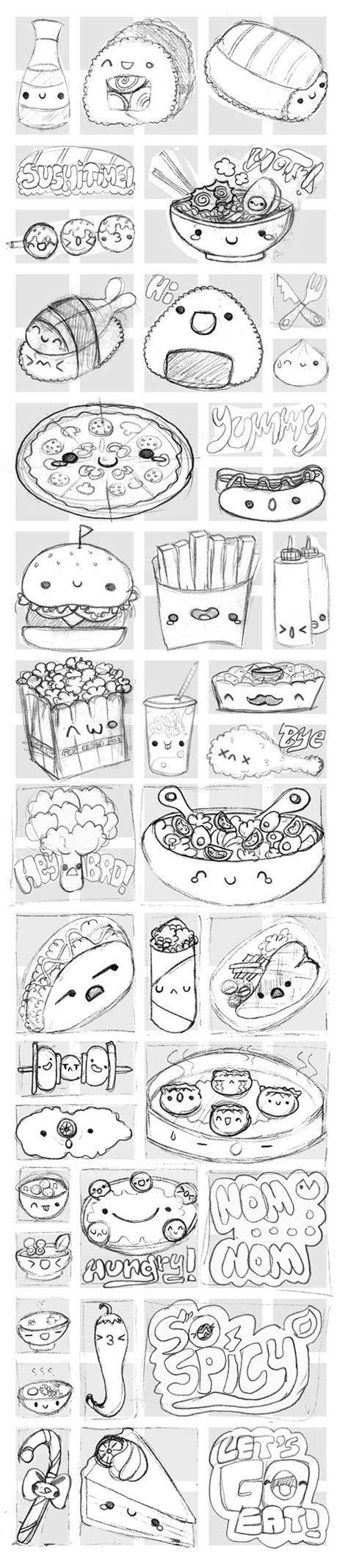 viber doodle ideas viber s kawaii food stickers on behance