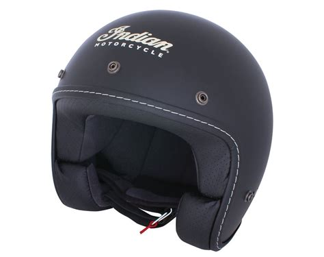 Kinderhelme Motorrad by Indian Motorcycle 174 Open Face Helmet Black Indian