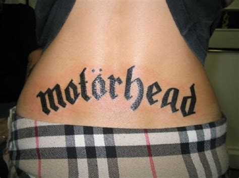 motorhead tattoo motorhead tattooed backs tattoos