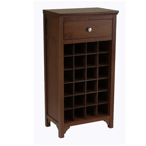 winsome regalia 24 bottle cabinet antique walnut wine rack