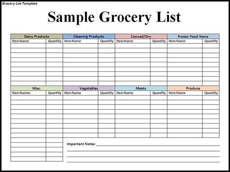 grocery list templates grocery list template search results new calendar