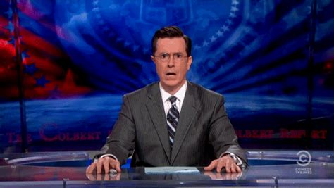 Jaw Drop Meme - stephen colbert jaw drop reaction gifs
