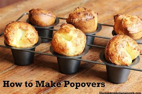 Popover Pantry by Recipe How To Make Popovers One Hundred Dollars A Month