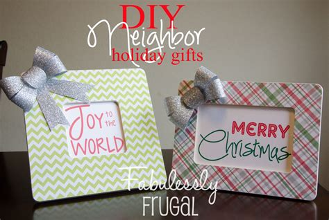 diy neighbor and friend gift holiday frame fabulessly frugal