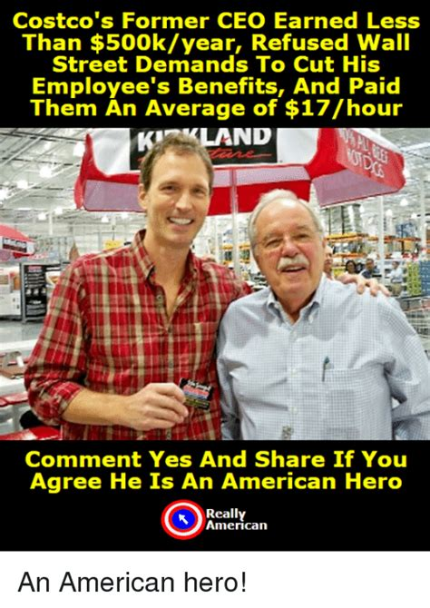 costco s former ceo earned less than 500kyear refused