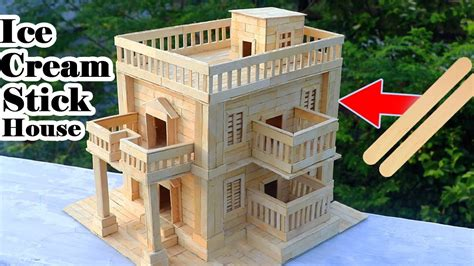 how to build a popsicle stick house how to make modern popsicle sticks house building