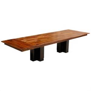 Large Contemporary Dining Tables 144 Quot Solid Wood Pedestal Large Dining Table With Extension For 14 Contemporary