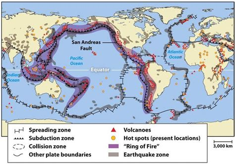 locations  earthquakes  volcanoes  ring  fire
