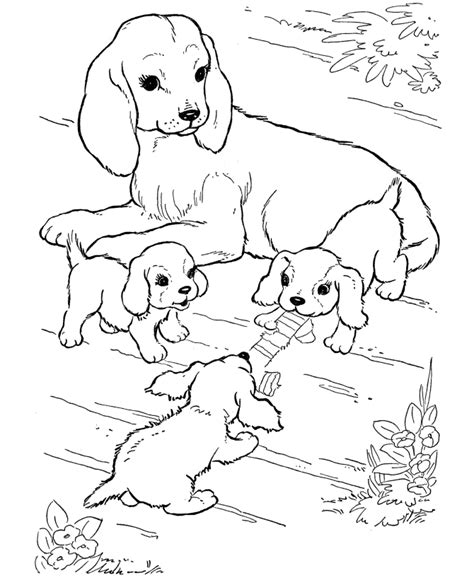 Coloring Pages Of Puppies And Dogs | best coloring page dog dogs and puppies coloring pages free