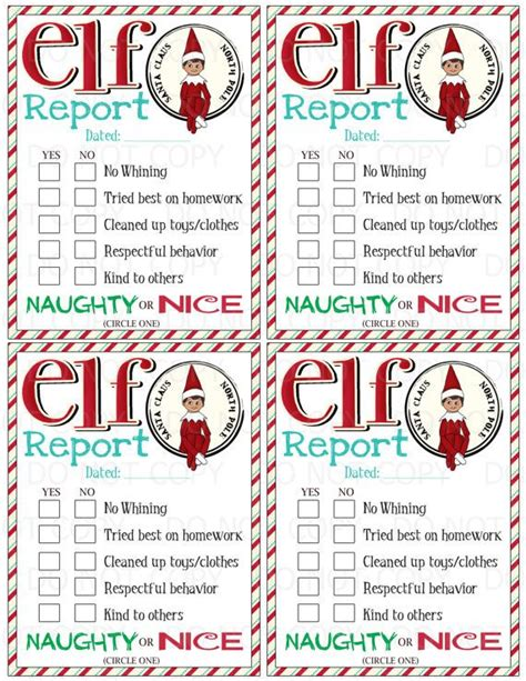 printable elf on the shelf report this listing is for a print it do it yourself elf on the