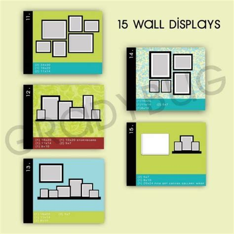 photo wall display templates wall display templates for photographers templates