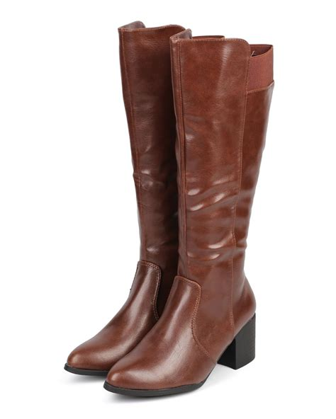 new dbdk dominica 1 leatherette almond toe knee high