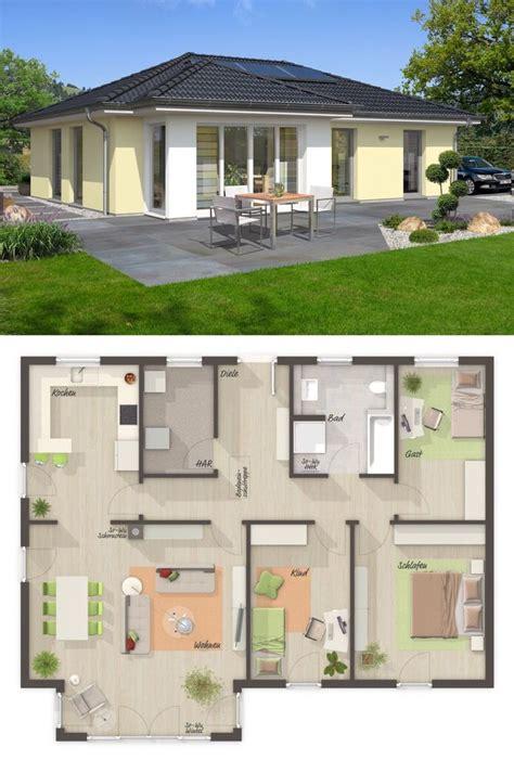 bungalow haus mit walmdach architektur wintergarten