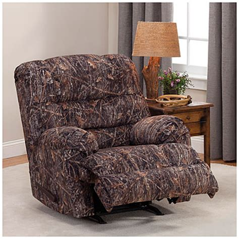 simmons camo recliner simmons 174 camouflage rocker recliner big lots