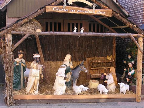 idee decoration creche noel cr 232 ches de no 235 l