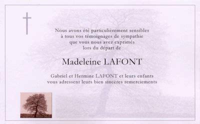 Lettre De Remerciement Obsèques Cartes De Remerciement De D 233 C 232 S 224 Prix Discount