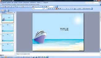 cruise powerpoint template