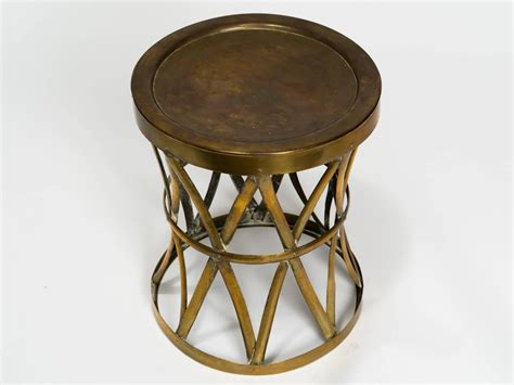 Drum Stool Table by Vintage Brass Drum Stool Table For Sale At 1stdibs