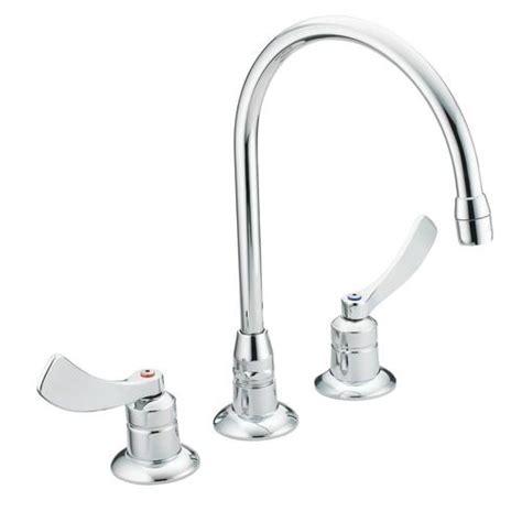 shop moen m dura chrome low arc commercial kitchen faucet moen m dura 2 handle bathroom high arc faucet at menards 174