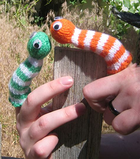 felt worm pattern puppet knitting patterns in the loop knitting