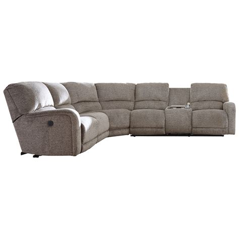 reclining sofa with storage signature design by ashley pittsfield power reclining