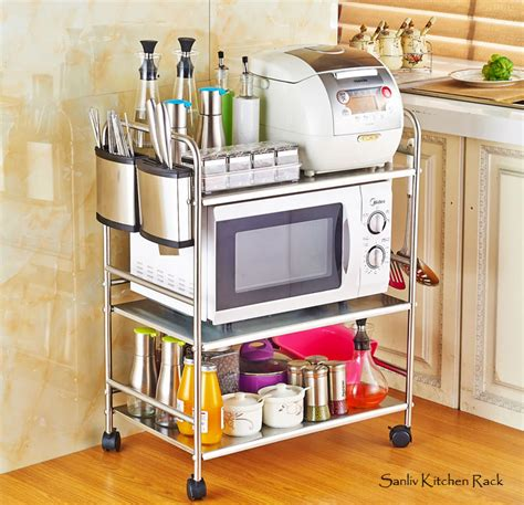 Kitchen Faucet Loose by Chrome 3 Tier Utility Microwave Stand Storage Kitchen Cart