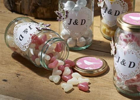 Handmade Wedding Favours - how to make wedding favour jars hobbycraft