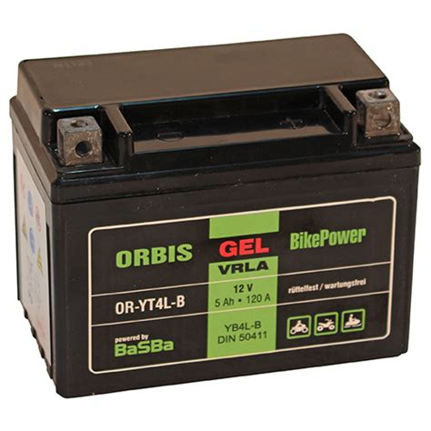 Motorrad Batterie Haltbarkeit by Orbis Motorradbatterie Gel 50411 5ah 12v Starterbatterie