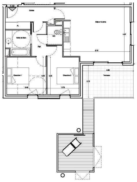 t3 combien de chambre plan appartement 60m2 2 chambres