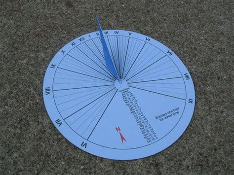 How To Make A Sundial With A Paper Plate - 15 minute paper craft sundial 7 steps with pictures