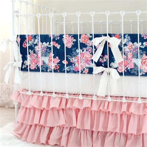Blush Baby Bedding blush pink and navy baby bedding set lottie da baby