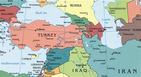 middle east map turkey map of turkey and middle east