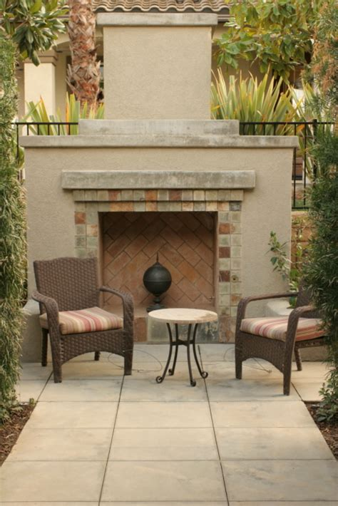 Cement Brick Fireplace by 31 Patio Fireplaces Creating Outdoor Living Room Spaces