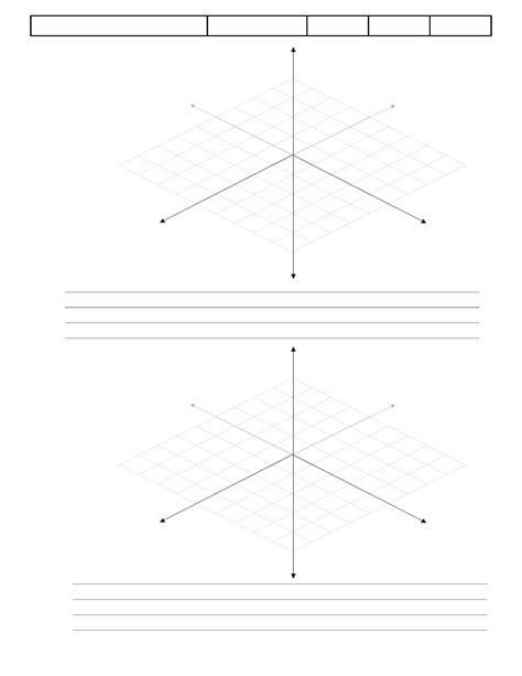 3d graph paper template exle free download