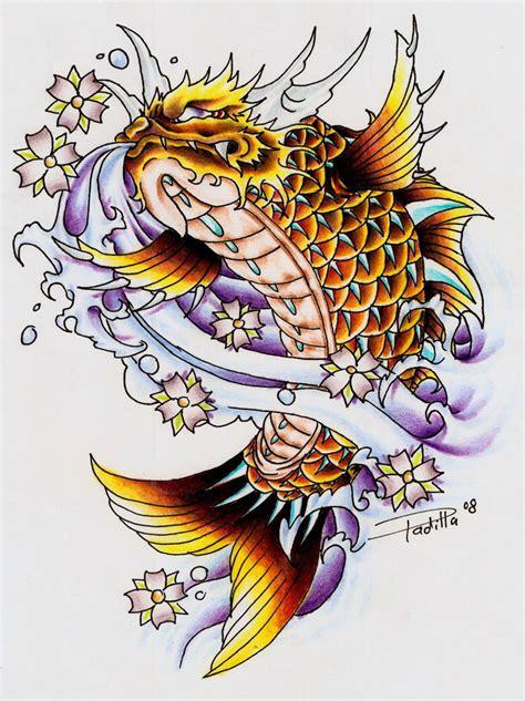 tattoo galleries dragon koi koi dragon ii by eltri on deviantart