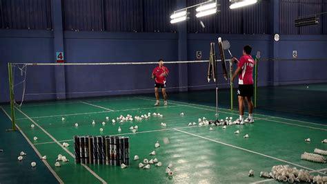 tutorial badminton youtube cross smash practice hd การฝ กตบทแยง badminton training