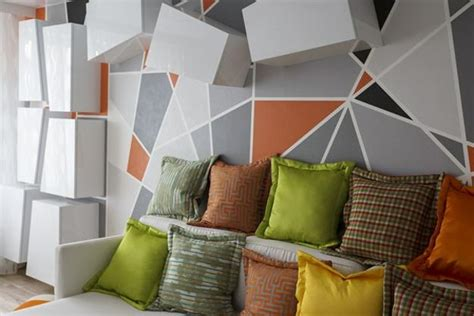 Home Interiors Wall Art by Geometric Objects And Decoration Patterns In Modern Living