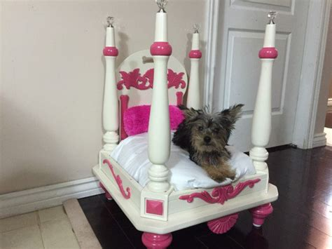 dog bed out of end table upcycle furniture into a pet bed