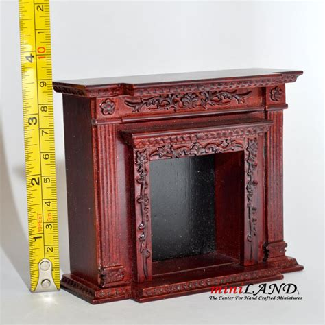 dollhouse fireplace quality fireplace for dollhouse miniature 1 12 mh wood