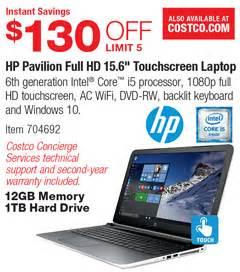 "costco deal hp pavilion full hd 15.6"" touchscreen laptop"